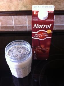 Mon gruau froid - lait à l'érable #Natrel